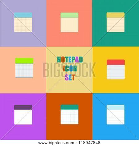 Notepad Icons Set