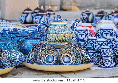 Traditional Uzbek Dishes For Tea Drinking