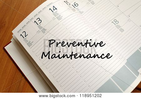 Preventive Maintenance Write On Notebook
