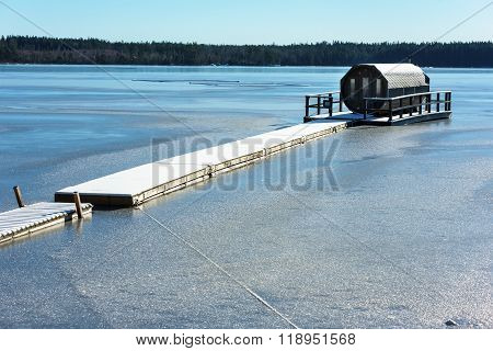 Octagonal Sauna On Ice