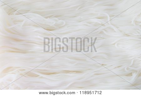 Thai Rice Vermicelli Or Thai Rice Noodles Background