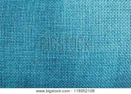 Pastel Background Of Blue Sack Textile Texture