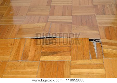 Destruction Of Parquet In Apartment