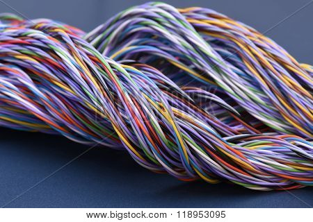 Colored telecommunications cables and wires
