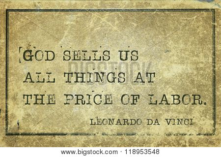 Price Of Labor Davinci