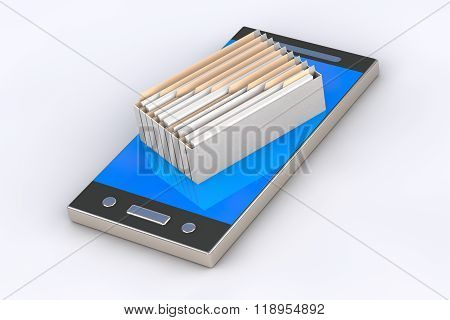 Phone Contains Archive Of Files