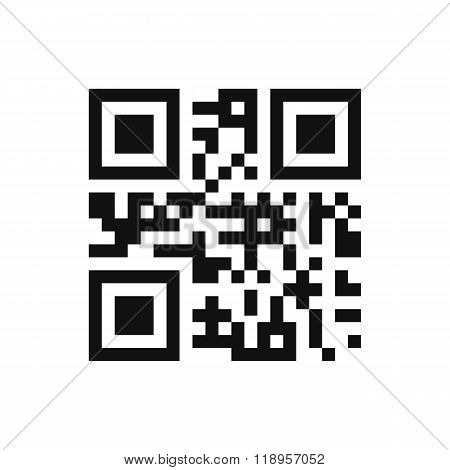 Qr code isolated design sample . Modern technologies