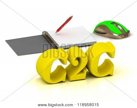 C2C  Inscription Bright Volume Letter And Textbooks And