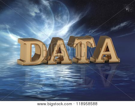 Data  Bright Word, Night Sky, Too Moon, Sea