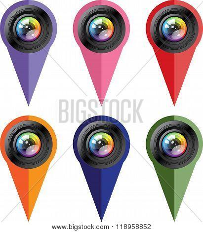 Camera icon set. Photo icon.