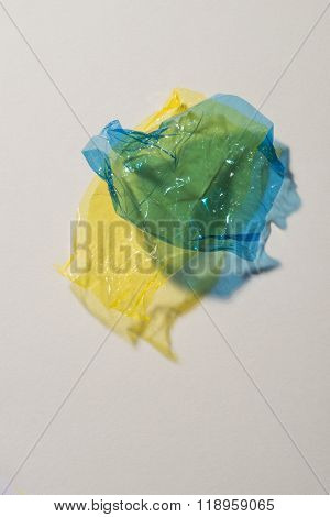 Blue And Yellow Sweet Wrappers