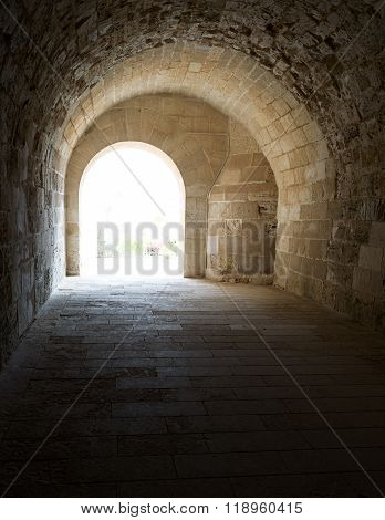 Vaulted Corridor Leading To The Courtyard Of Alexandria Castle