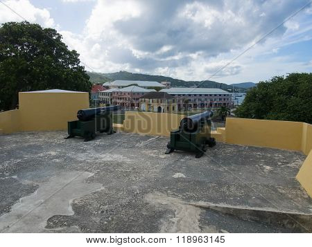 Cannons On Top Of Ft. Christiansted