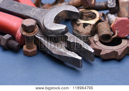 Tools with old mechanical parts
