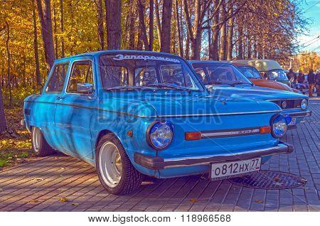 Old Soviet Car Zaporozhets  Zaz-968M