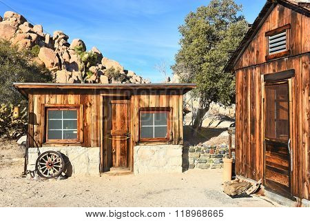 JOSHUA TREE, CALIFORNIA - JANUARY 1, 2016: Store and House. The store was run by Mrs. Keys where she sold the farms produce and other goods.