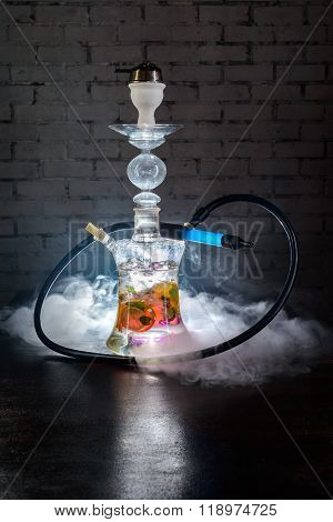 Colorful smoking hookah