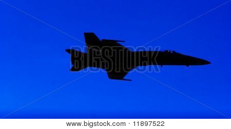 F-18 fighter jet airplane silhouette