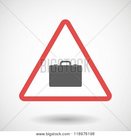 Warning Signal Icon With  A Breiefcase