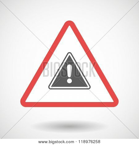 Warning Signal Icon With A Warning Signal