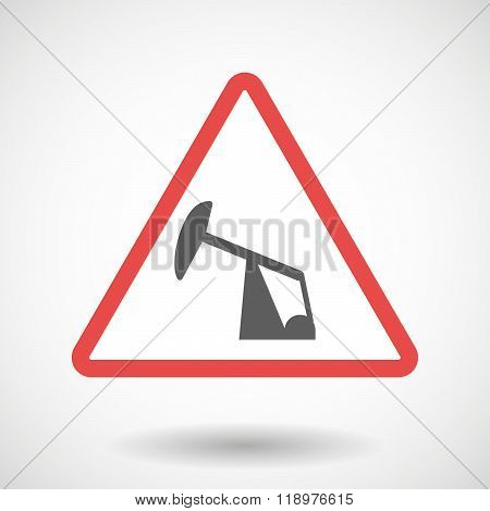 Warning Signal Icon With A Horsehead Pump