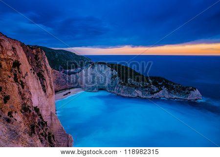 Shipwreck Bay, Navagio Beach on Zakynthos Island in Greece