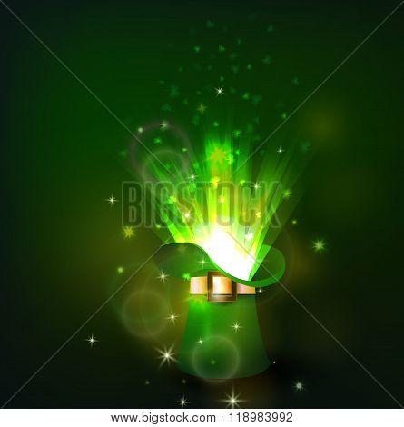 Green firework in leprechaun hat