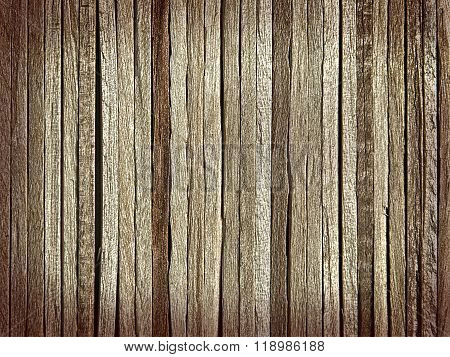 Background Made Of Thin Wooden Slats