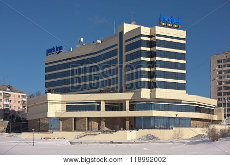 NIZHNY TAGIL, RUSSIA - FEBRUARY 16, 2016: Photo of The hotel