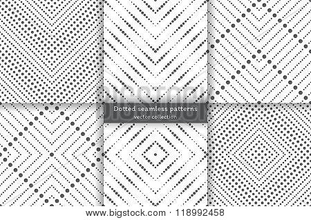 Set Of Dotted Seamless Patterns
