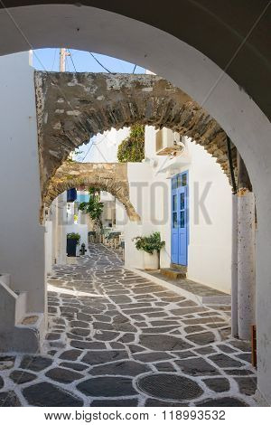 Typical Street In Paros