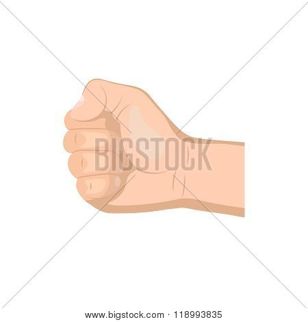 Realistic Hand With Clenched Fist