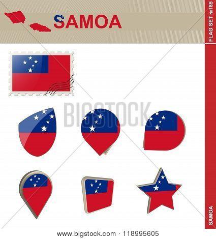Samoa Flag Set, Flag Set