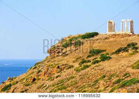 Greek Temple Of Poseidon, In Cape Sounion