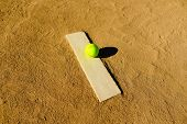 Softball In A Softball Field In California Mountains poster