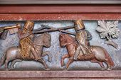 stock photo of jousting  - Malbork castle in Pomerania region of Poland - JPG
