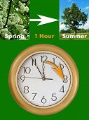 picture of daylight saving time  - summertime period begins  - JPG