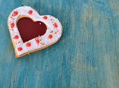 ������, ������: Heart Cookies On The Blue