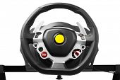 Постер, плакат: racing wheel for driving simulator