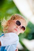 Toddler Girl In Sun Glasses