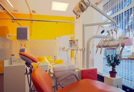 stock photo of medical office  - Interior of a dental clinic simple and modern minimal design - JPG