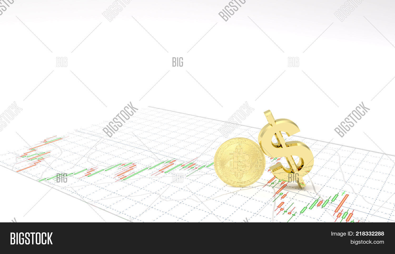 Symbol gold dollargold bitcoin make image photo bigstock symbol gold dollargold bitcoin make profit investment stock market candlestick graph 3d illustration money chart indicator biocorpaavc Images