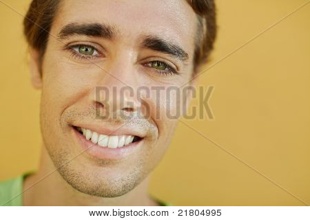 college student smiling at camera
