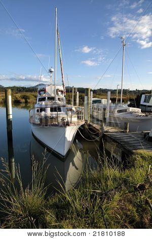 Yacht In The Harbor Of Coromandel