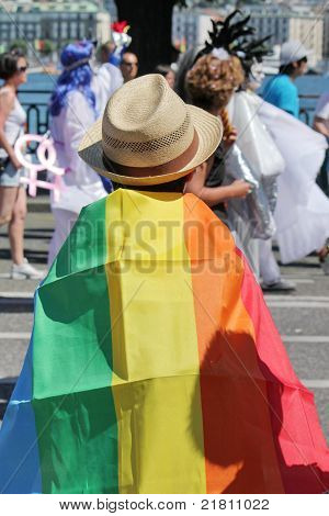 Spectator At The Gaypride 2011, Geneva, Switzerland