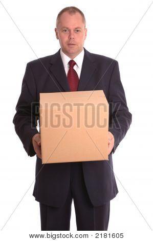 Businessman Holding A Parcel.