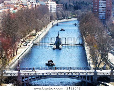 River Manzanares And Puente Los Franceses In Madrid