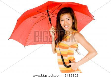 Beauty With Umbrella