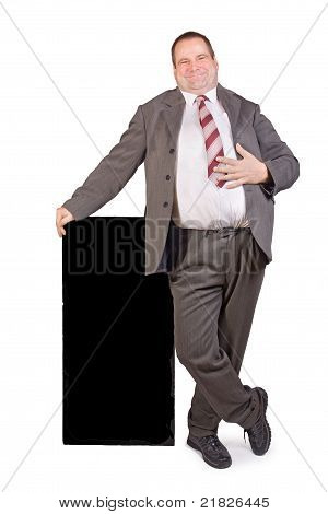 jolly fat businessman