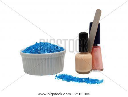 Manicure: Polish, File, And Soaking Salts